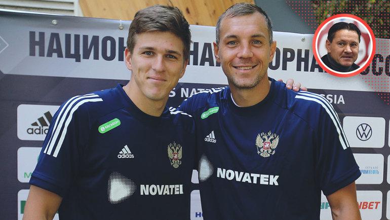 Александр Соболев (слева) иАртем Дзюба.