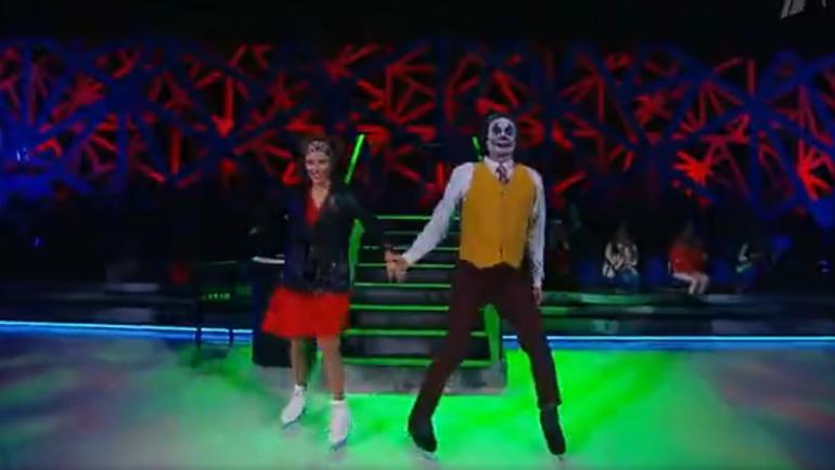 Регина Тодоренко и Роман Костомаров. Фото скриншот Первого канала