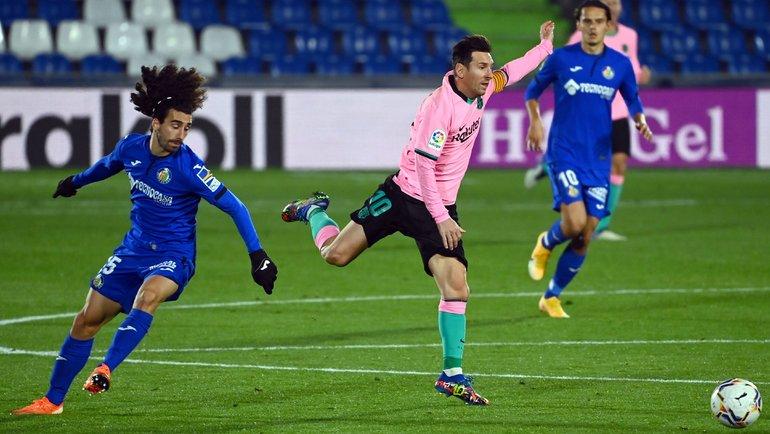 17октября. Хетафе. «Хетафе»— «Барселона»— 1:0. Вигре Лионель Месси. Фото AFP