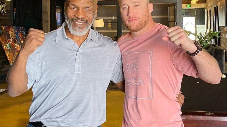 Майк Тайсон (слева) иДжастин Гэтжи (справа). Фото Instagram
