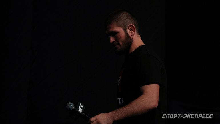 Хабиб Нурмагомедов. Фото Дарья Исаева, «СЭ» / Canon EOS-1D X Mark II