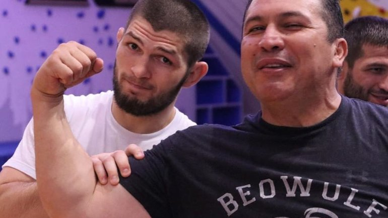 Хавьер Мендес (справа) иХабиб Нурмагомедов. Фото Instagram
