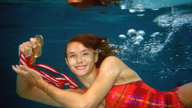 Трёхкратная олимпийская чемпионка посинхронному плаванию Ольга Брусникина. Фото Сергей Киврин иАндрей Голованов