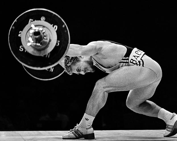 1981 год. Лилль. Штангист. Фото Сергей Киврин