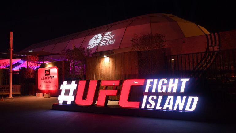 Общий вид флеш-форума наБойцовском острове UFC вАбу-Даби. Фото USA Today Sports