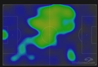 Тепловая карта «Барселоны» в матче 7-го тура ла лиги против «Реала». Фото whoscored.com