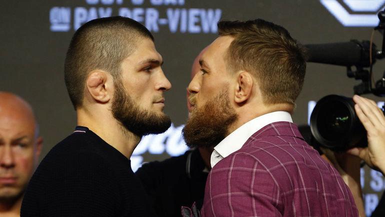 Хабиб Нурмагомедов и Конор Макгрегор. Фото USA Today Sports