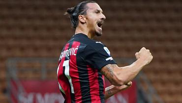 «Милан»— «Рома»: 39-летний Ибрагимович открыл счет на2-й минуте