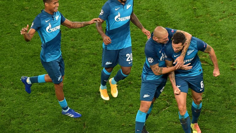 ИгрокиФК «Зенит». Фото AFP
