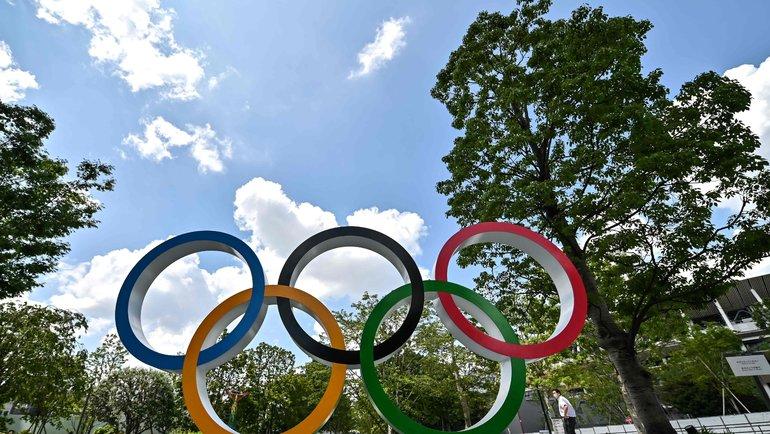 Олимпийские кольца вТокио. Фото AFP