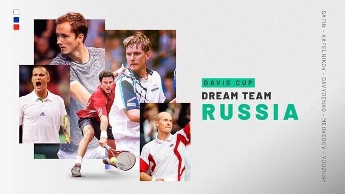 Дрим-тим сборной России на Кубке Дэвиса. Фото Twitter