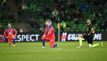 28октября. Краснодар. «Краснодар»— «Челси»— 0:4. Игроки перед матчем.