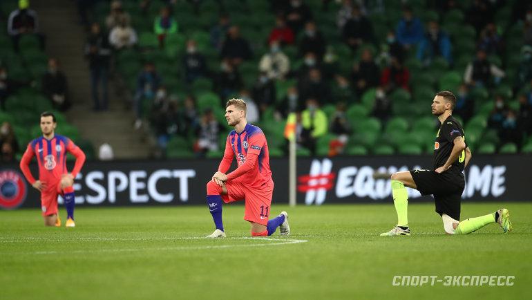 28октября. Краснодар. «Краснодар»— «Челси»— 0:4. Игроки перед матчем. Фото Дарья Исаева, «СЭ» / Canon EOS-1D X Mark II