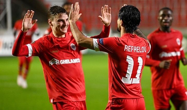 29октября. Бельгия. «Антверпен»— «Тоттенхэм» 1:0. Фото ФК «Антверпен»