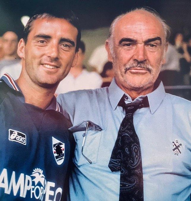 Роберто Манчини иШон Коннери. Фото Twitter
