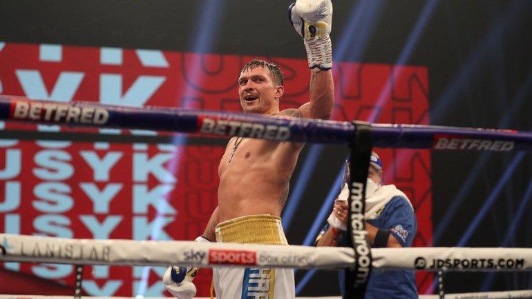 Александр Усик. Фото Matchroom Boxing.