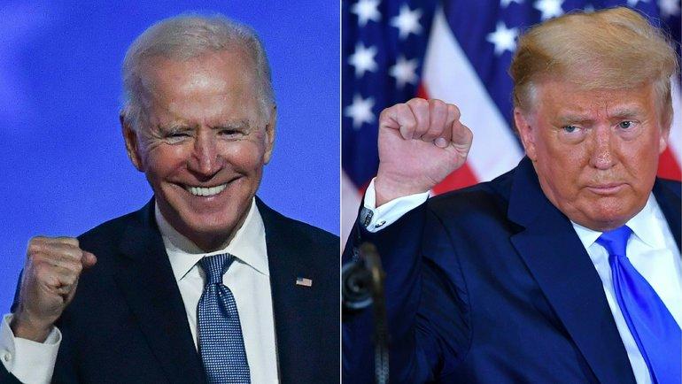 Дональд Трамп (справа) иДжо Байден. Фото AFP