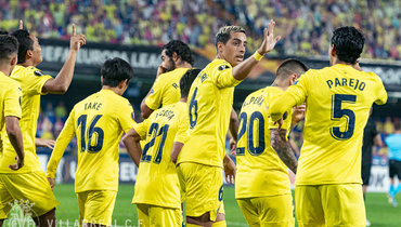 «Вильярреал» разгромил «Маккаби» вЛиге Европы, матч начался позже из-за дождя