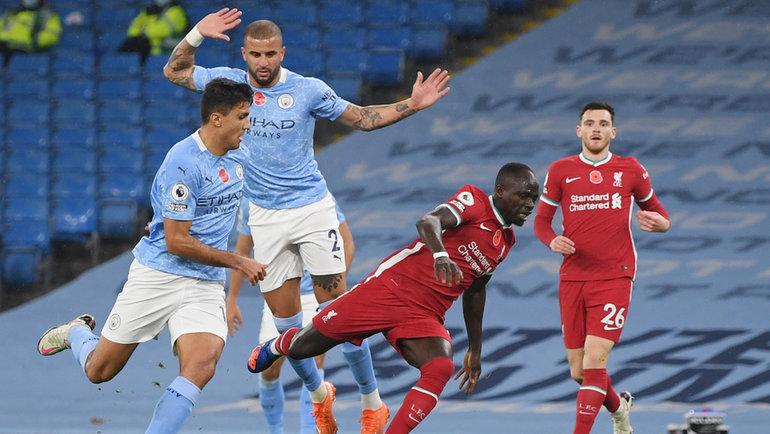 8ноября. Манчестер. «Манчестер Сити»— «Ливерпуль»— 1:1. Соперники оставили «Лестер» напервом месте. Фото Reuters