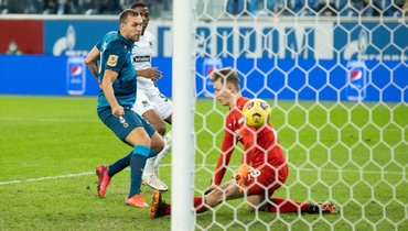 8ноября. Санкт-Петербург. «Зенит»— «Краснодар»— 3:1. 79-я минута. Артем Дзюба забивает победный гол.