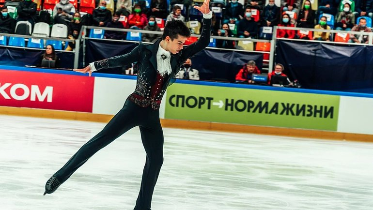 Выступление Петра Гуменника вМоскве. Фото Министерство спорта