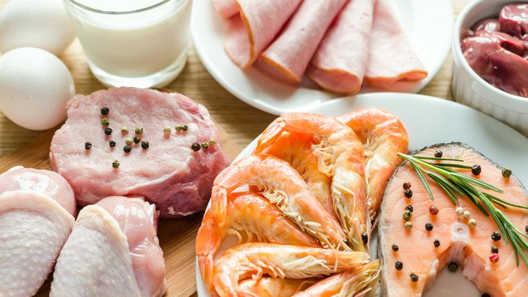 Вкаких продуктах содержится белок.
