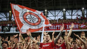 Фанаты Спартака вовремя матча сОренбургом дали четко понять: они против FanID наматчах чемпионата России.
