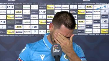 Игрок сборной Сан-Марино расплакался вовремя интервью после двух матчей подряд без поражений