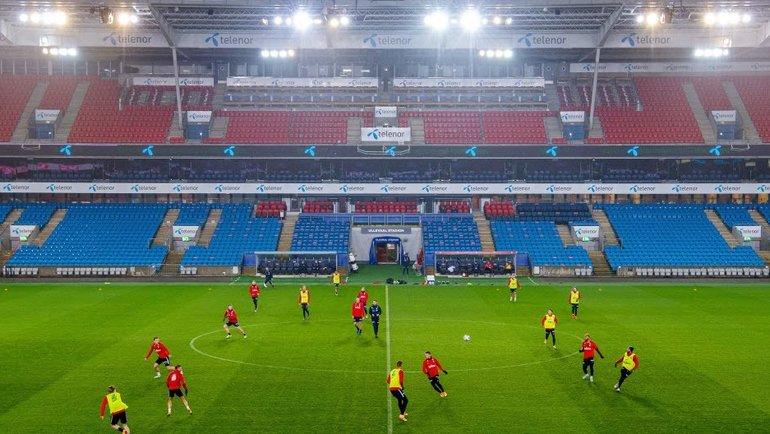 Тренировка сборной Норвегии.