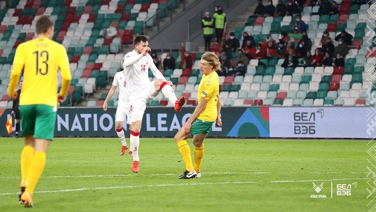 Белоруссия— Литва— 2:0. Фото vk.com/belarusff
