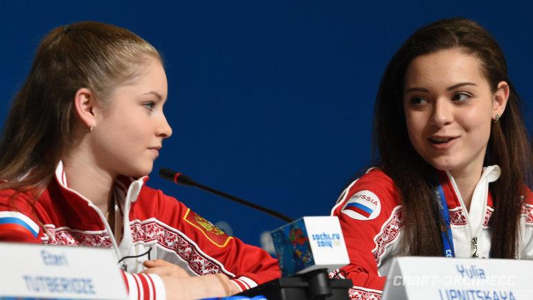 Юлия Липницкая иАделина Сотникова. Фото Александр Федоров, «СЭ»