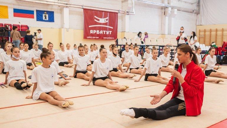 Олимпийский урок отАлександры Солдатовой. Фото ОКР