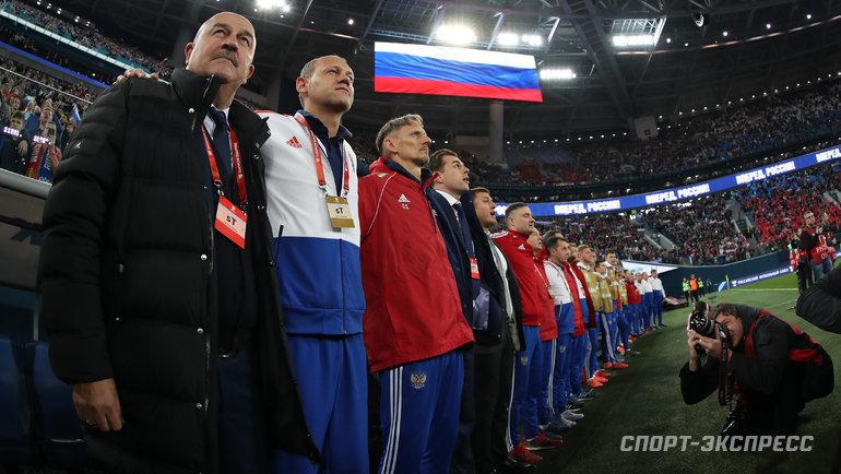 Всреду сборная России сыграет сСербией. Фото Александр Федоров, «СЭ» / Canon EOS-1D X Mark II