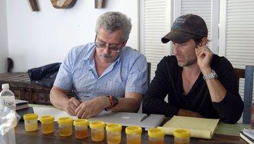 Григорий Родченков (слева) иамериканский режиссер Брайан Фогель.