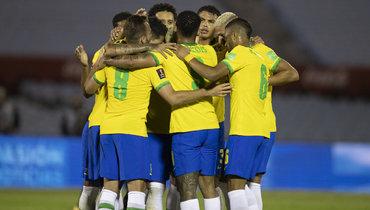 Бразилия обыграла Уругвай, одержав четвертую победу вчетырех матчах отбора ЧМ-2022