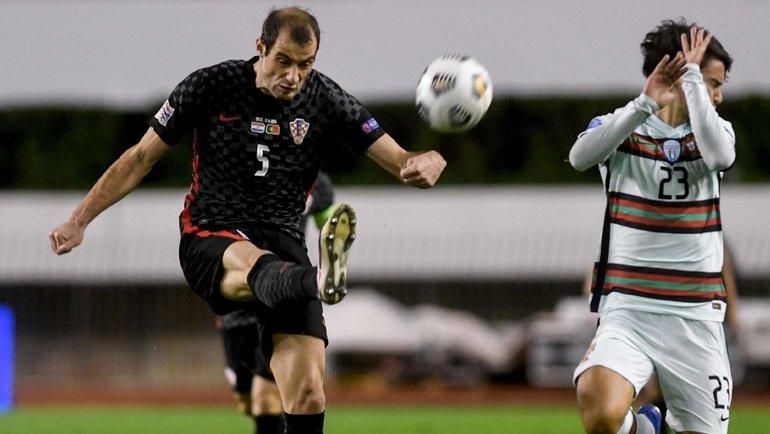 17ноября. Сплит. Хорватия— Португалия— 2:3. Миле Шкорич (№5). Фото AFP