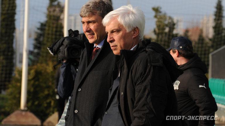 Сергей Галицкий (слева) иВладимир Хашиг. Фото Александр Федоров, «СЭ»