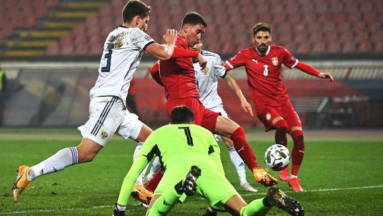 19ноября. Белград. Сербия— Россия— 5:0. Фото Reuters