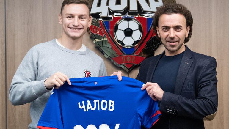 Федор Чалов иРоман Бабаев. Фото ПФК ЦСКА.