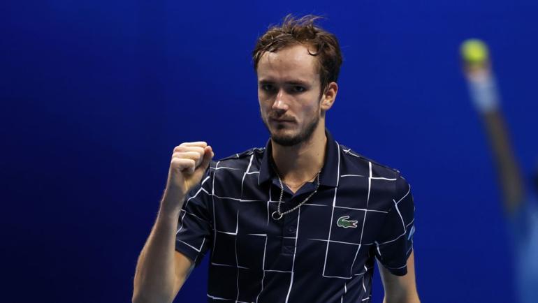 21ноября. Лондон. Медведев обыграл Надаля ивышел вфинал Итогового турнира ATP. Фото Twitter