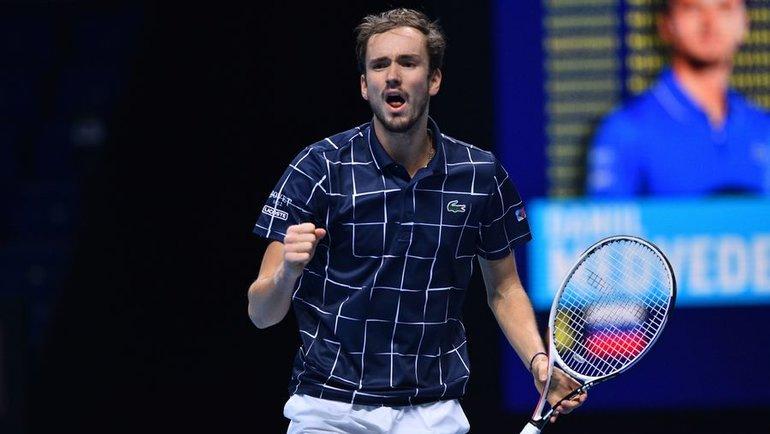 21ноября. Лондон. Даниил Медведев обыграл Рафаэля Надаля ивышел вфинал Итогового турнира ATP. Фото AFP