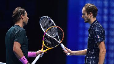 21ноября. Лондон. Даниил Медведев обыграл Рафаэля Надаля ивышел вфинал Итогового турнира ATP.
