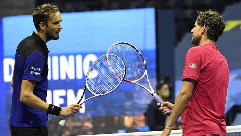 Даниил Медведев иДоминик Тим. Фото USA Today Sports