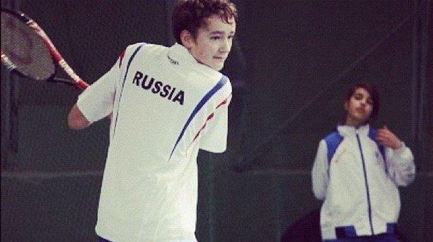 Юный Даниил Медведев. Фото Instagram Даниила Медведева