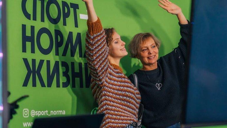 Зона активностей всероссийского спортивного движения, работавшая для зрителей вфойе арены «Мегаспорт».