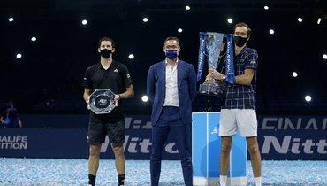 Тим иМедведев поздравили друг друга судачным сезоном