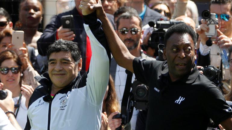 Диего Марадона иПеле. Фото Reuters