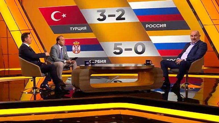 Георгий Черданцев и Денис Казанский в студии со Станиславом Черчесовым.