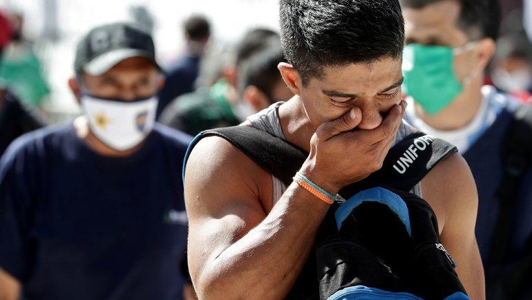 Casa Rosada вБуэнос-Айресе. Церемония прощания сДиего Марадоной. Фото AFP