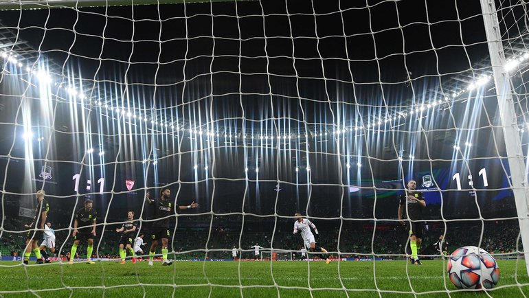 24ноября. Краснодар. «Краснодар»— «Севилья»— 1:2. Фото AFP